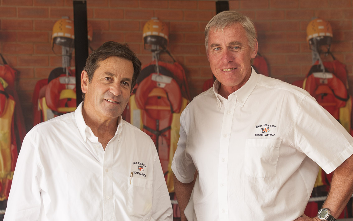 NSRI Governance board Chairman Ronnie Stein and CEO Cleeve Robertson.