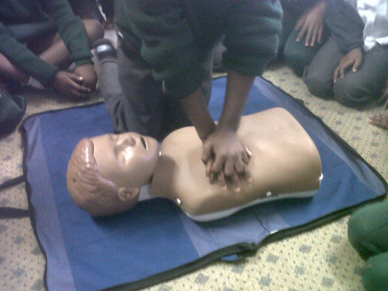 The best part of the lesson ... Hands-On CPR.