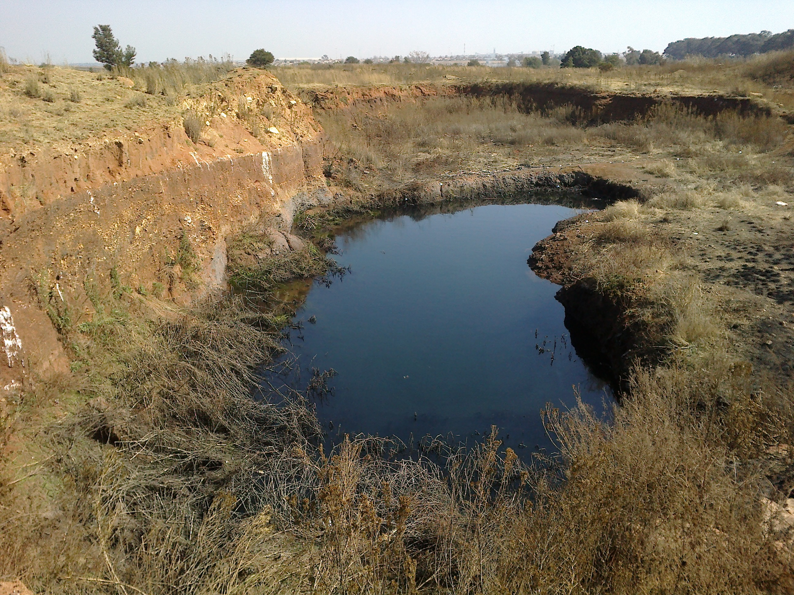 The ditch that two children drowned in near