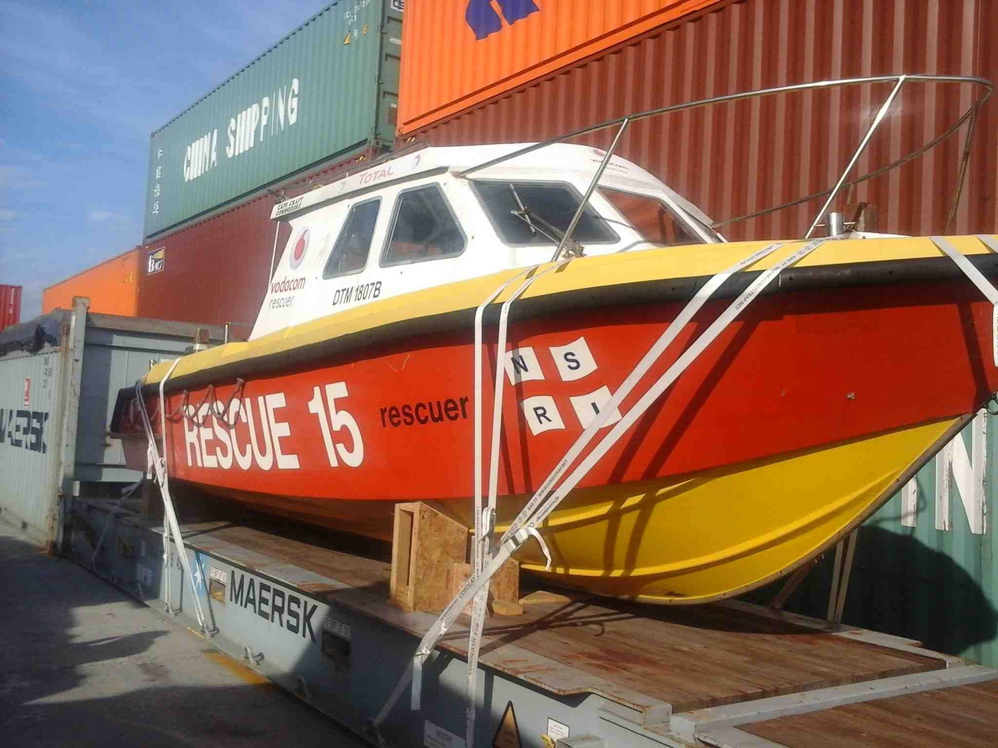 Vodacom rescuer en route to Uruguay.