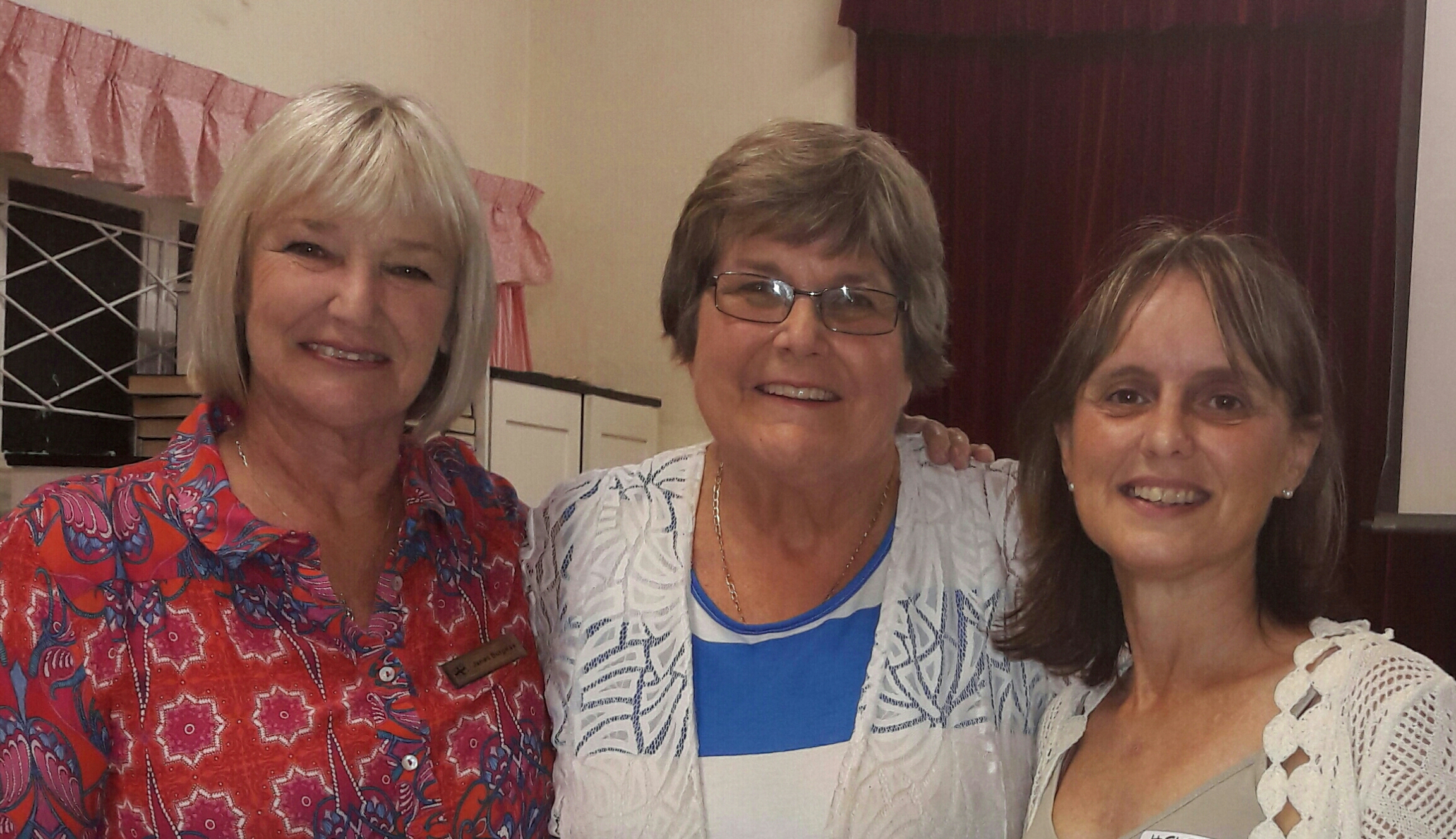 From Left: Janet Burgess and Helen Wienand on far right with a member of the Women's Auxiliary in Northdene KZN