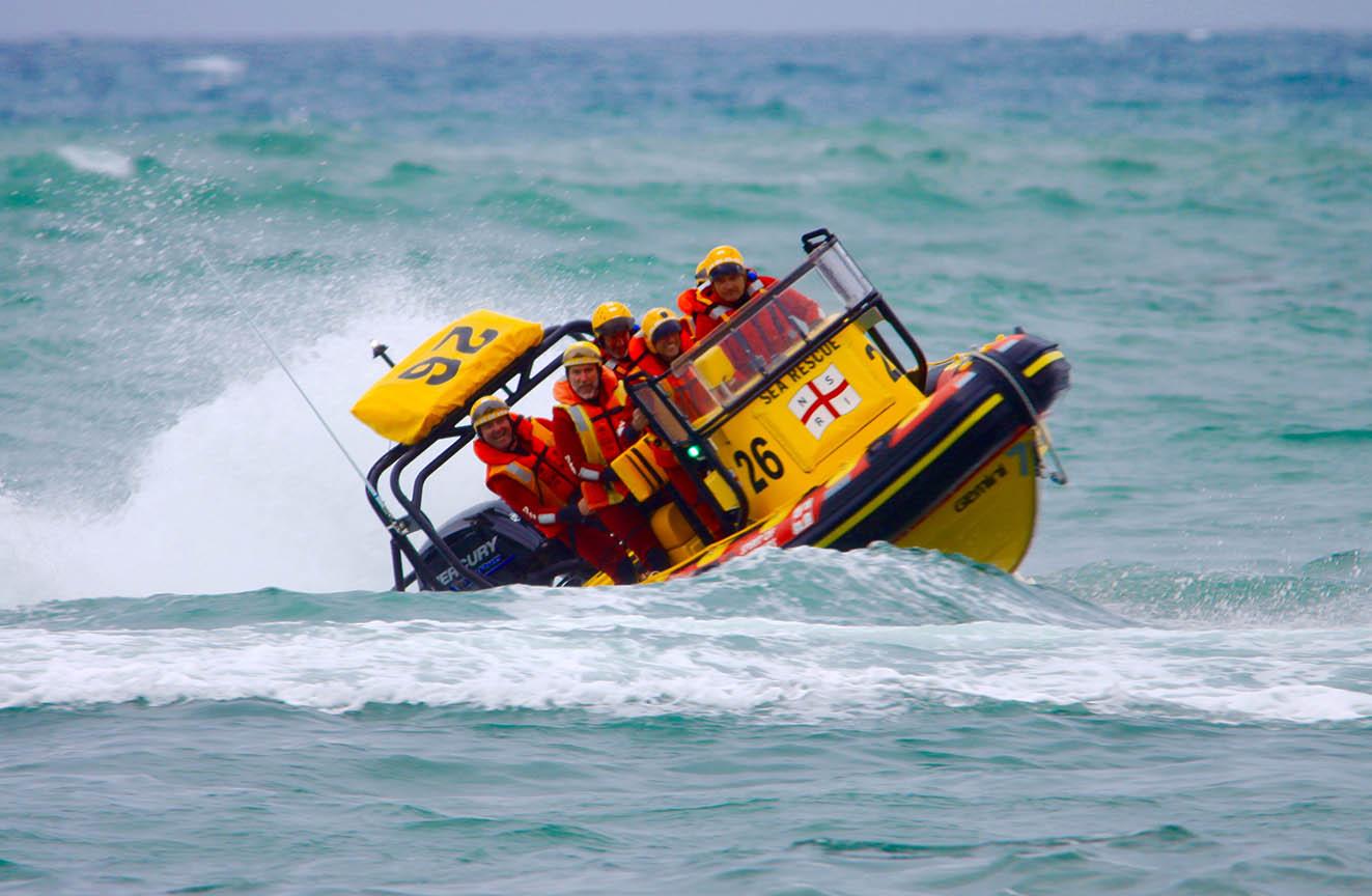 The Kommetjie rescue boat Spirit of Vines.