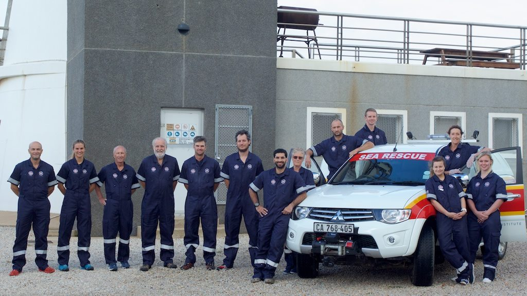 The rescue crew at Station 37 JBay in their new jumpsuits