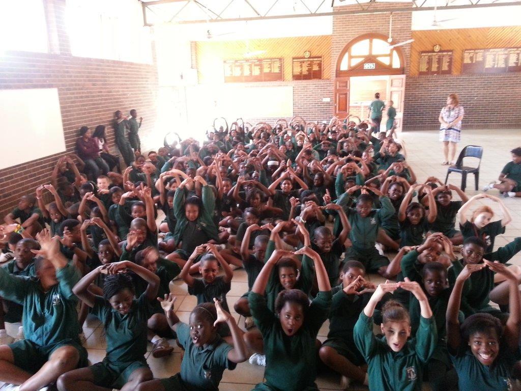 Addington's Grade 4 assembly.