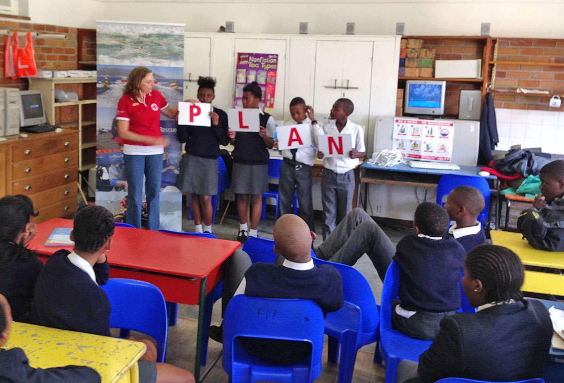 Alison teaches at Ellerton Primary in Sea Point, where she taught 397 children over three days about water safety.