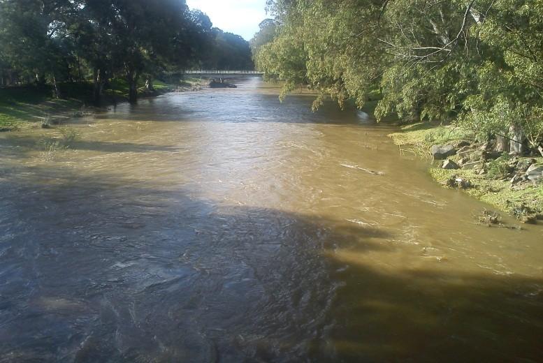 Children should not go near flooding rivers.