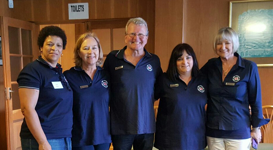 From left: Theresa Medicine, Elaine Aquadro, Bruce Sanderson, Kim Gresse and Janet Burgess