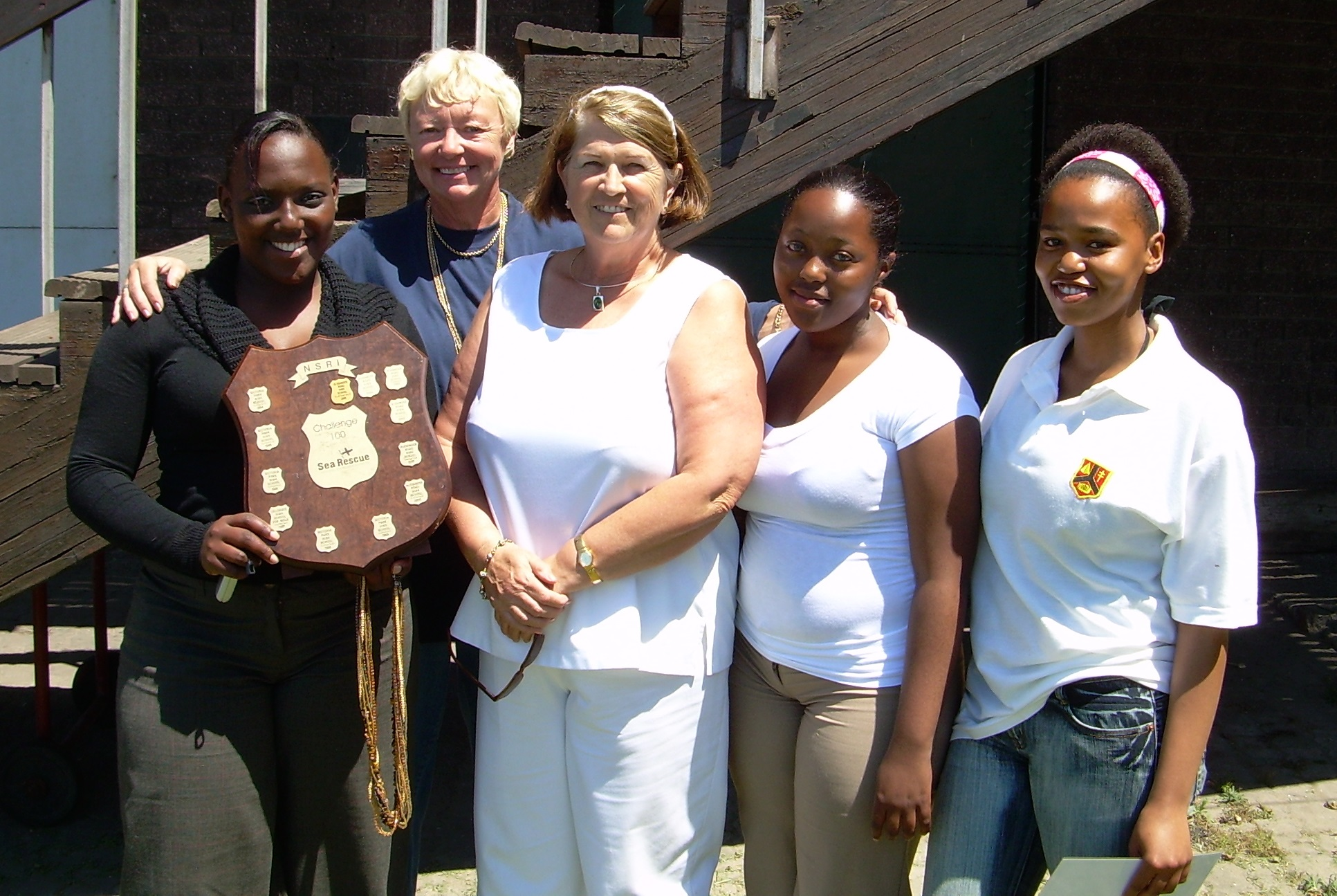 """Sue Sperry (back) initiated the successful """"Challenge 100"""" fundraising competitions for schools"""