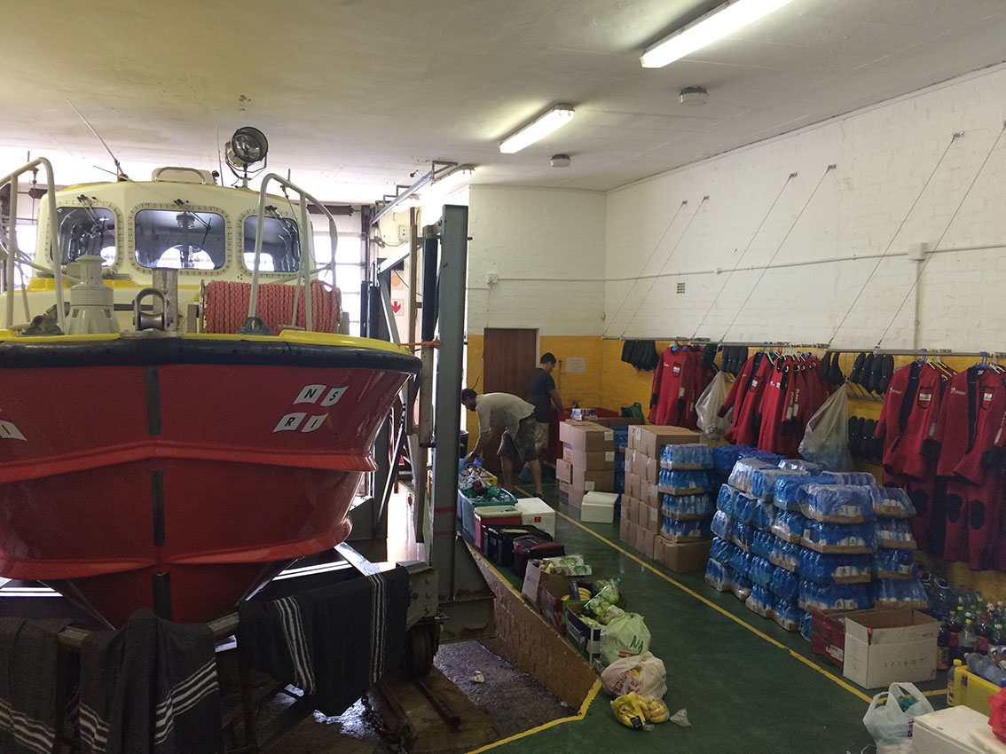 Provisions for fire fighters at the Hout Bay NSRI station.