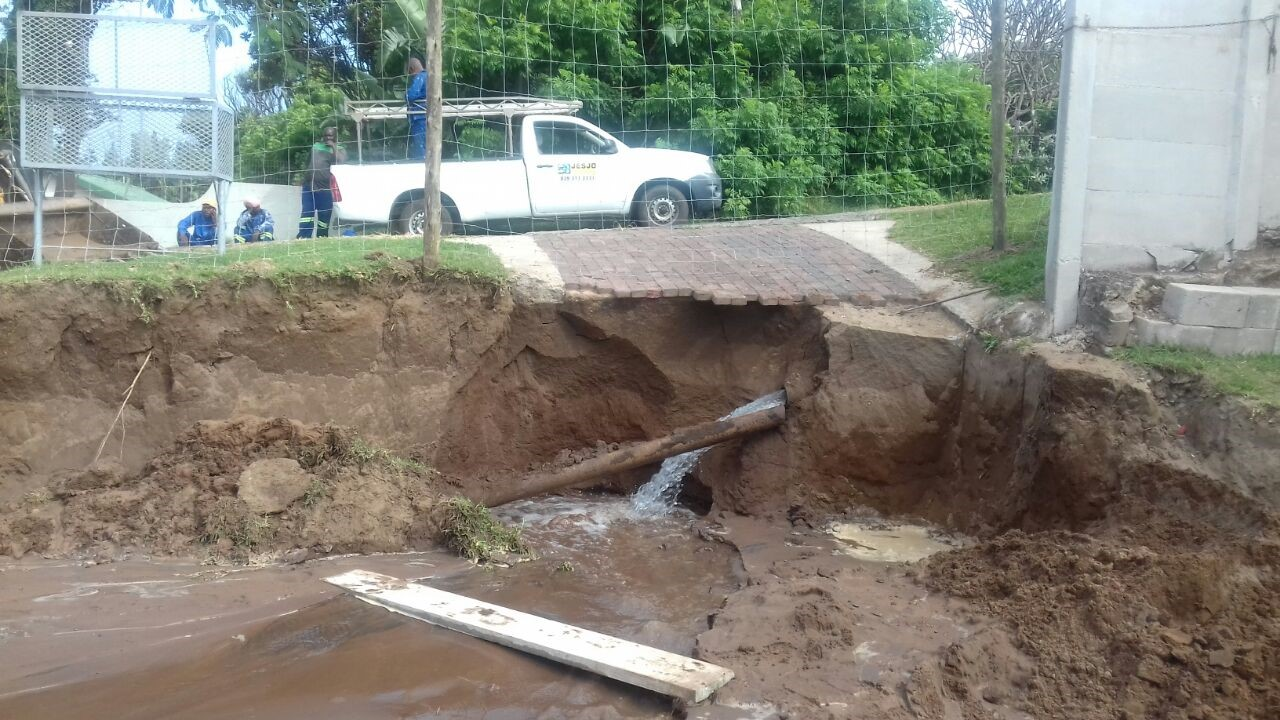 Picture attached: by NSRI Port Edward. The collapsed embankment.
