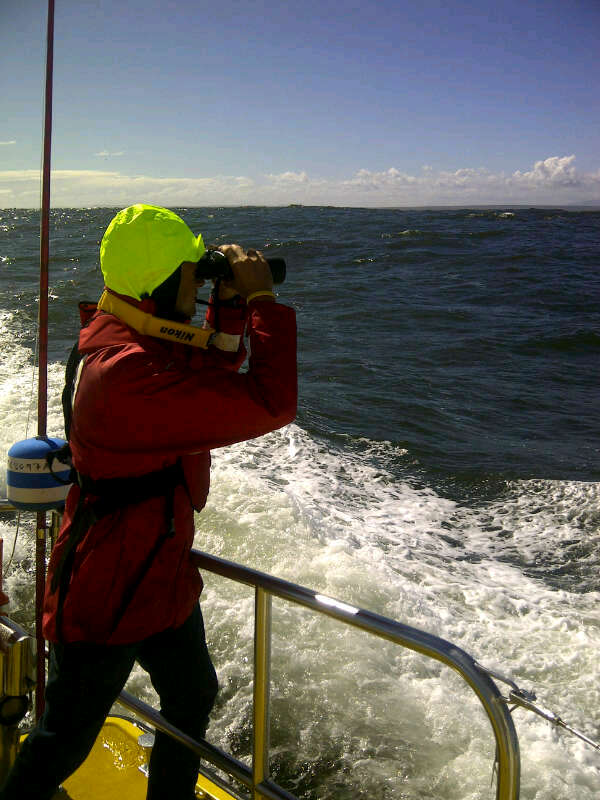 Crew on Spirit of Vodacom searching.