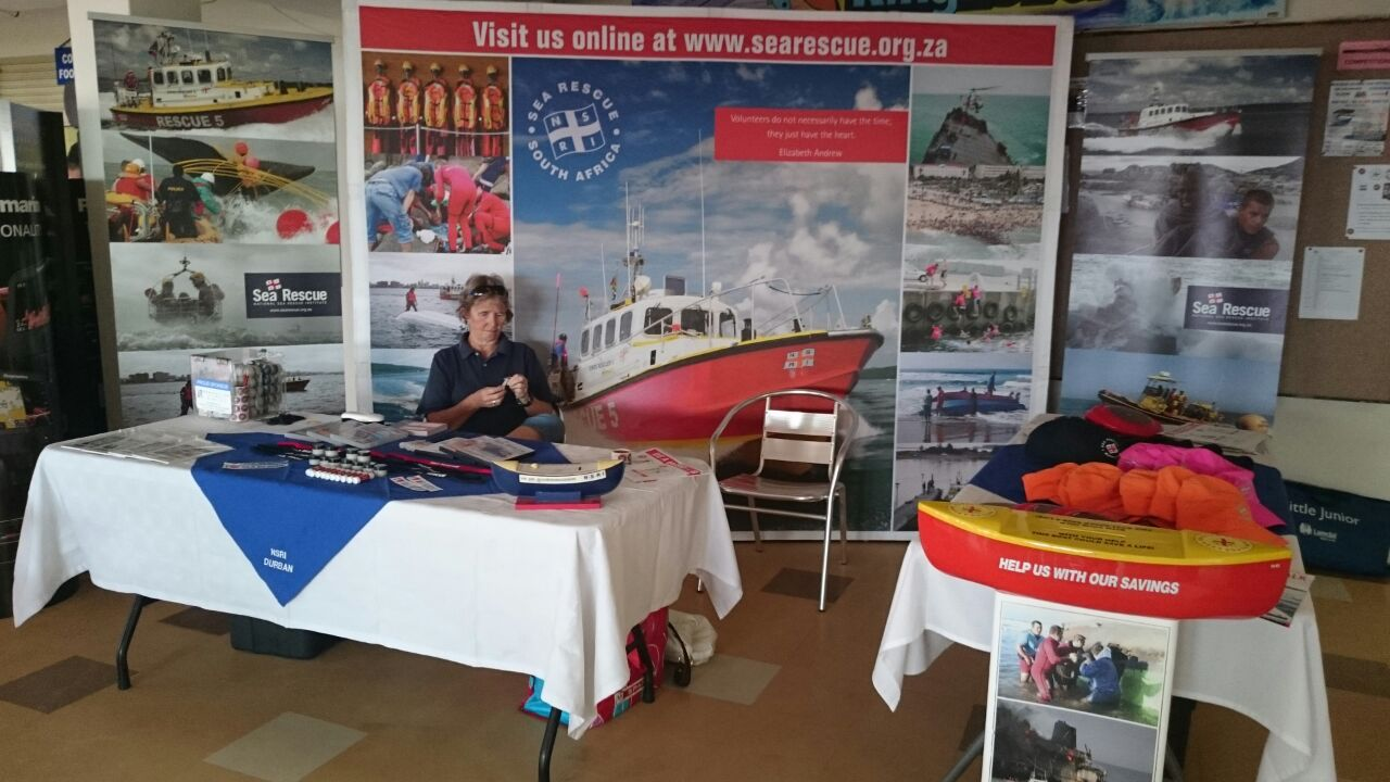 The Sea Rescue stand at the competition.
