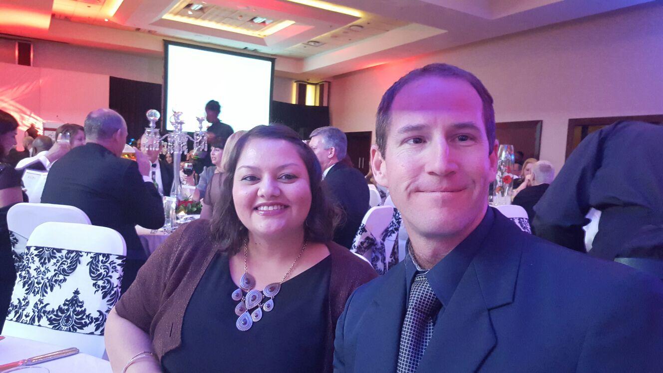 Megan Hughes and Brett Ayres representing NSRI