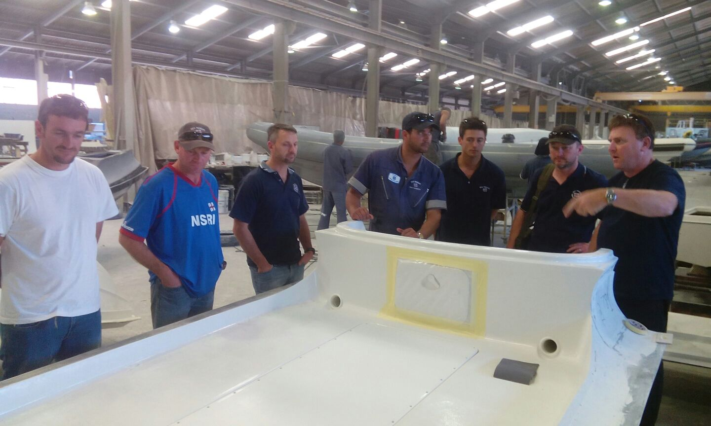 Visit to Gemini boat building factory
