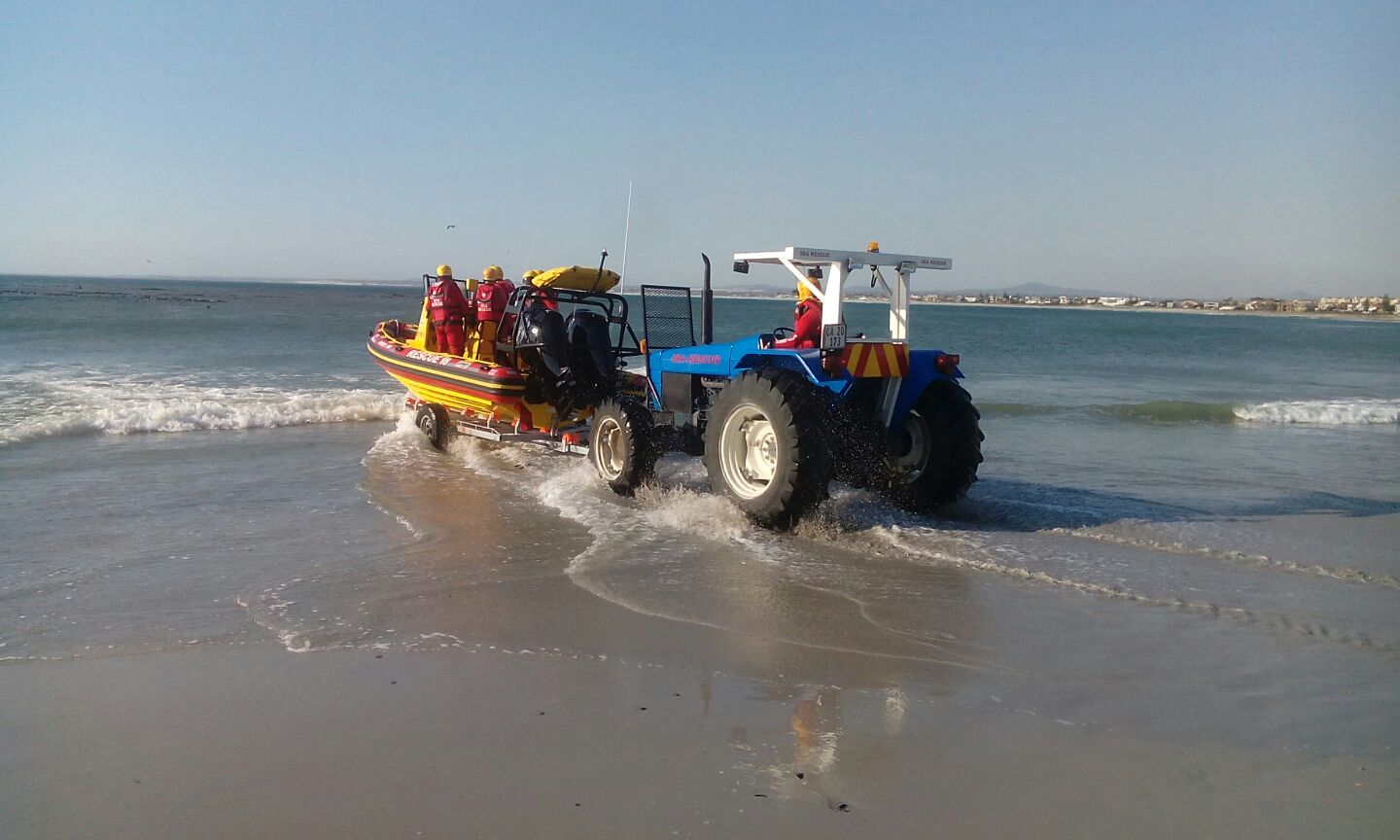 Forward launching dolly at Melkbosstrand