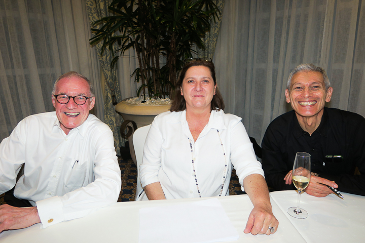 Guy from Rotary, Alison Smith (Fundraising Manager) and Mark Koning (Financial Director)