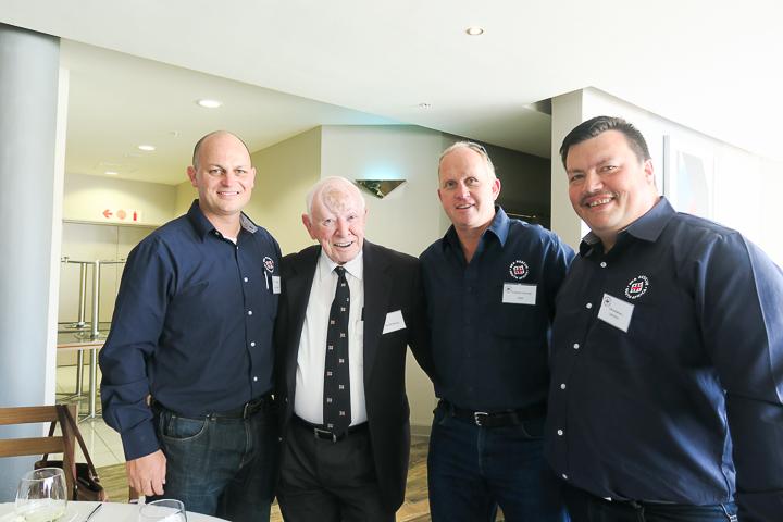 From left: Neil Slater(Deputy Station Commander, Gordon's Bay), David Hemus, Graeme Harding (HQ) and Cameron Green (crew Gordon's Bay)