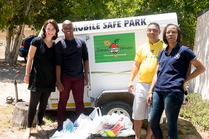 From left: Krista Lazzari (NSRI: Fundraising Events), Thobile Msongelwa (James House), Alex Adams and Bongiwe Ngqaqu (NSRI: PA to CEO)