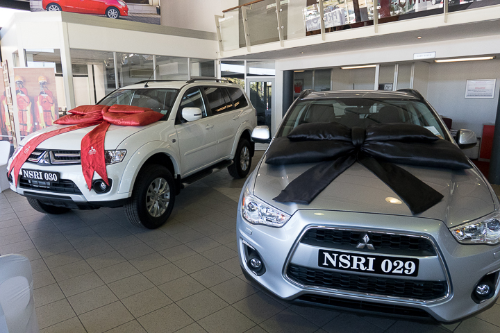 The first prize: A Mitsubishi Pajero Sport 2.5 and an ASX 2.0L (Classic) worth almost a million rand
