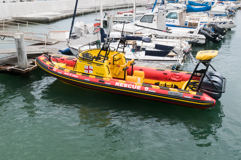 The new 8.5m Rescue Boat named in honour of her benefactors the late Jack and Irene Riley