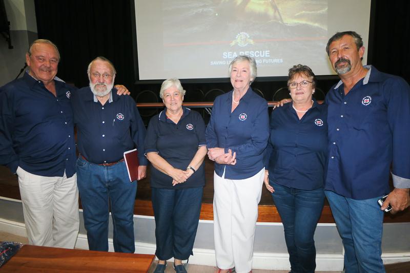 Fundraising Committee from left: Barney Bently, Michael Clark, Marion Spencer, Jos Garrett, Jane and Deon Langenhoven
