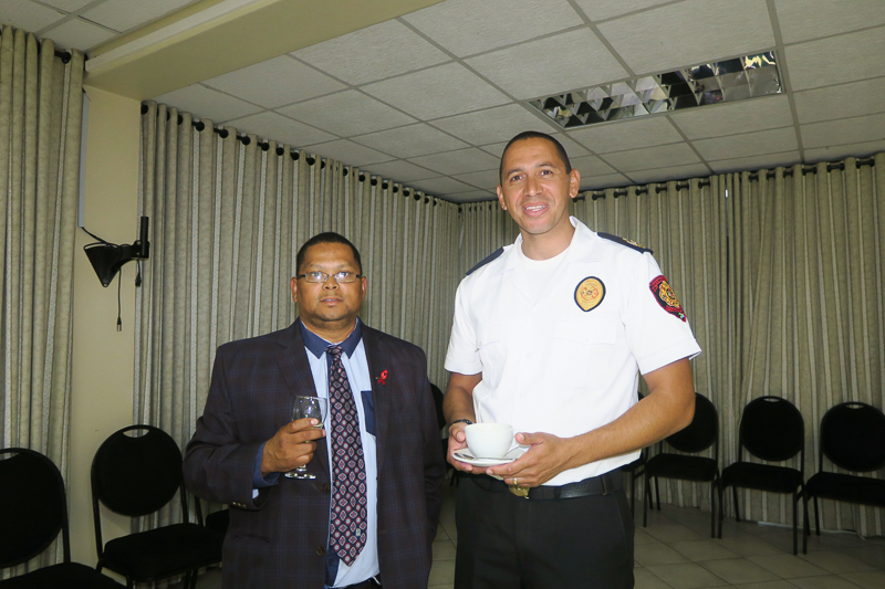 Councellor Africa and Assistant Chief, Angelo Aplon of Overstrand Municipality