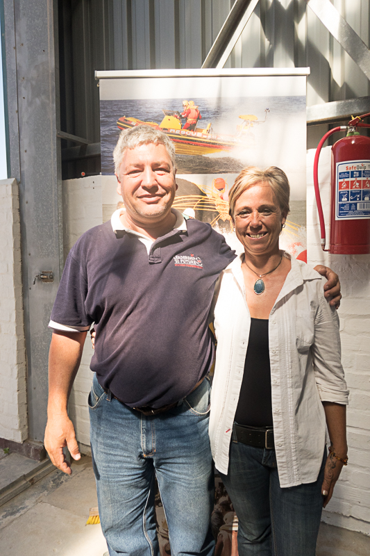 Theo Erasmus and Louise Mouton, journalist at Suid Kaap Forum