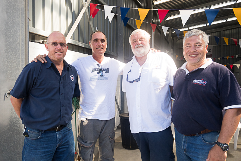 Graeme Harding, Paul Viera (SAMSA), Allan Cramb and Theo Erasmus
