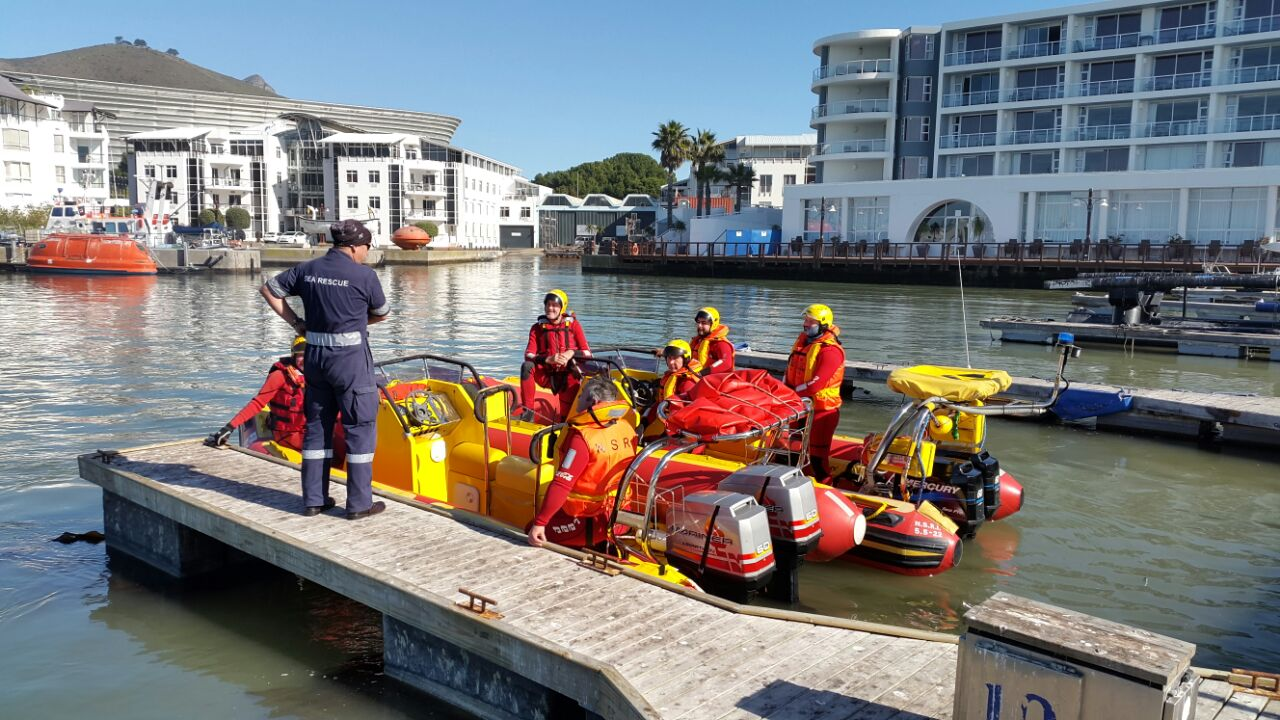 Training briefing in Granger Bay.