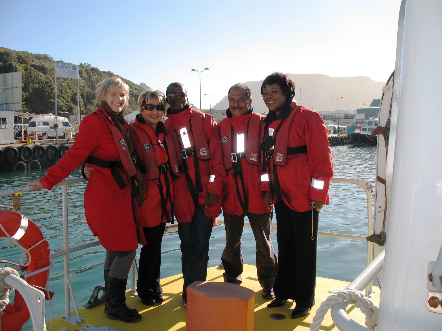 Laura Du Preez of NSRI with the De Beers team.