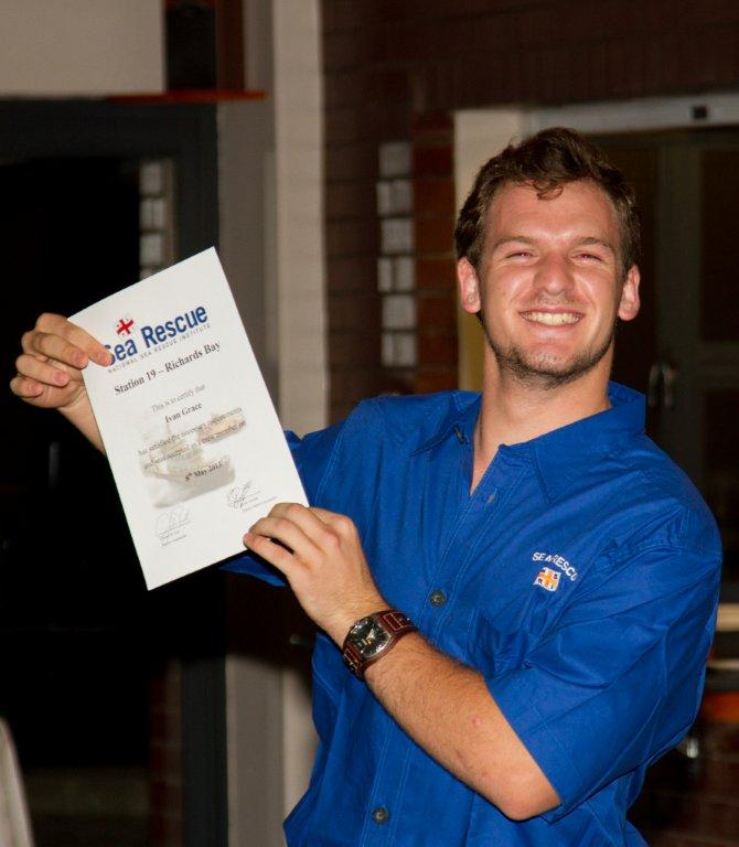 Ivan Grace very proud of his official Crew Certificate