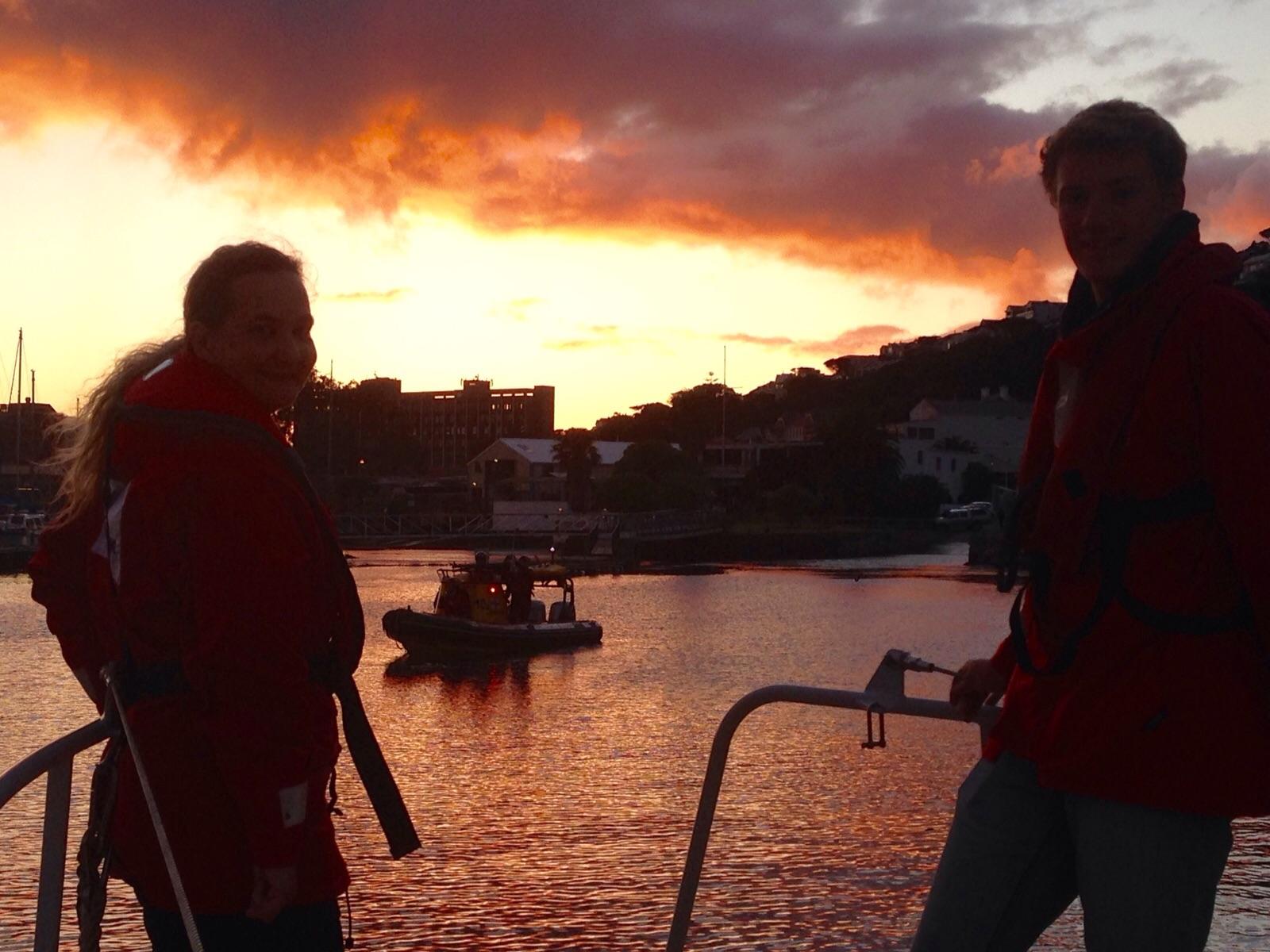 Simon's Town rescue boats preparing at dawn today.