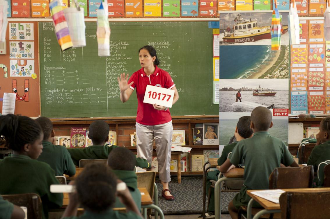 Jacqui teaches at Addington.