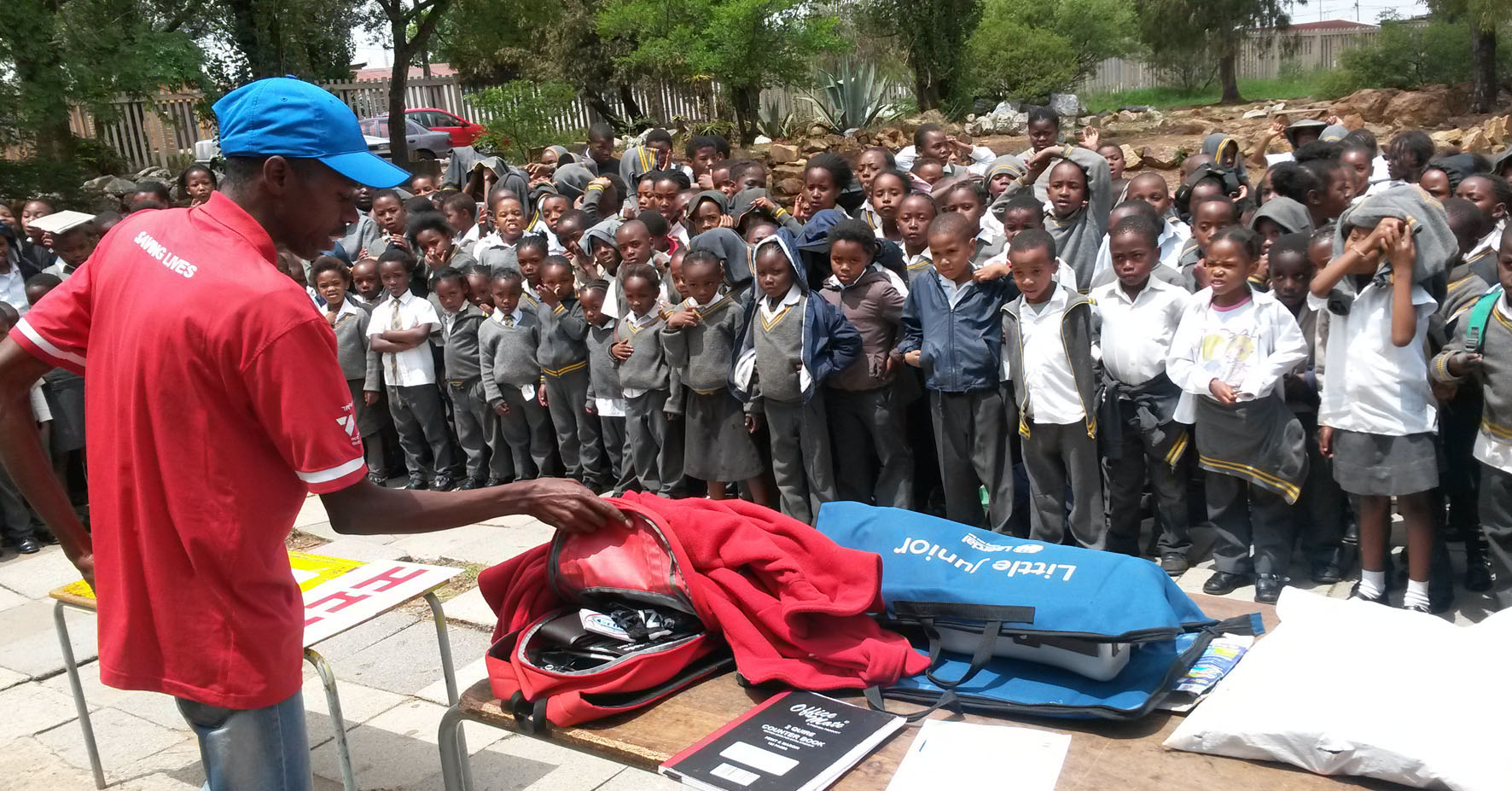 Kenneth at the Dube school in Soweto.