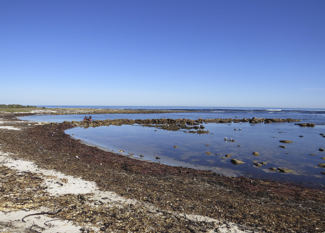 The slipway and channel at Kommetjie on a beautiful day.