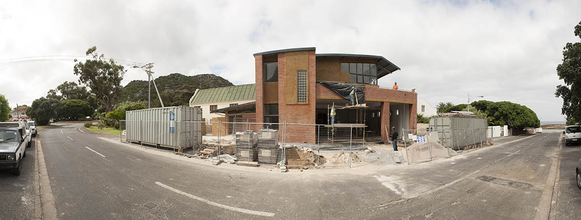 A panorama of the new Kommetjie Sea Rescue base which will be complete at the end of November.