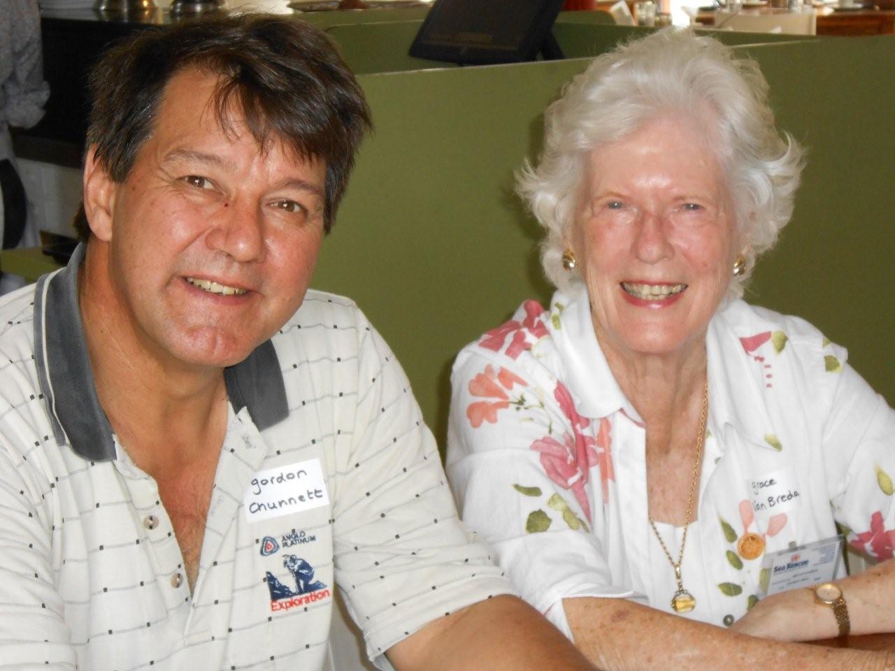 Gordon Chunnett and Grace van Breda