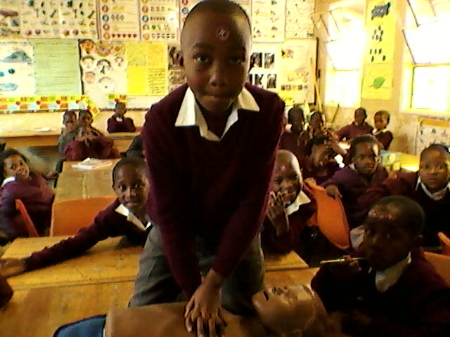 Langabuya Intermediate Phase learn Hands On CPR.