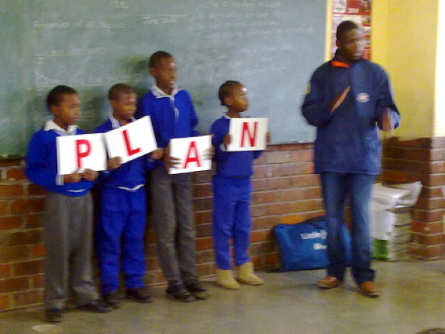 Lindo at Sifisesihle Primary school.