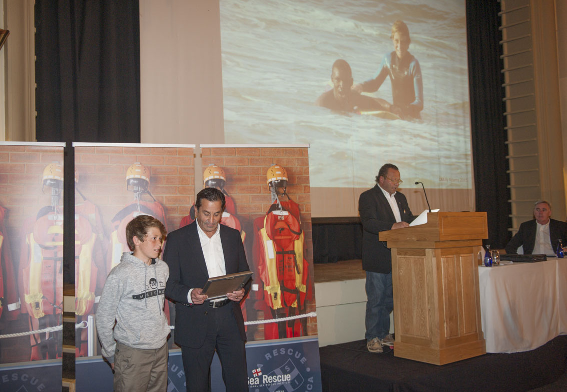 WATERWISE ACADEMY RECOGNITION AWARD Devon Dodd, a Grade 8 pupil at Oakhill School in Knysna for saving the life of a man caught in a rip current.