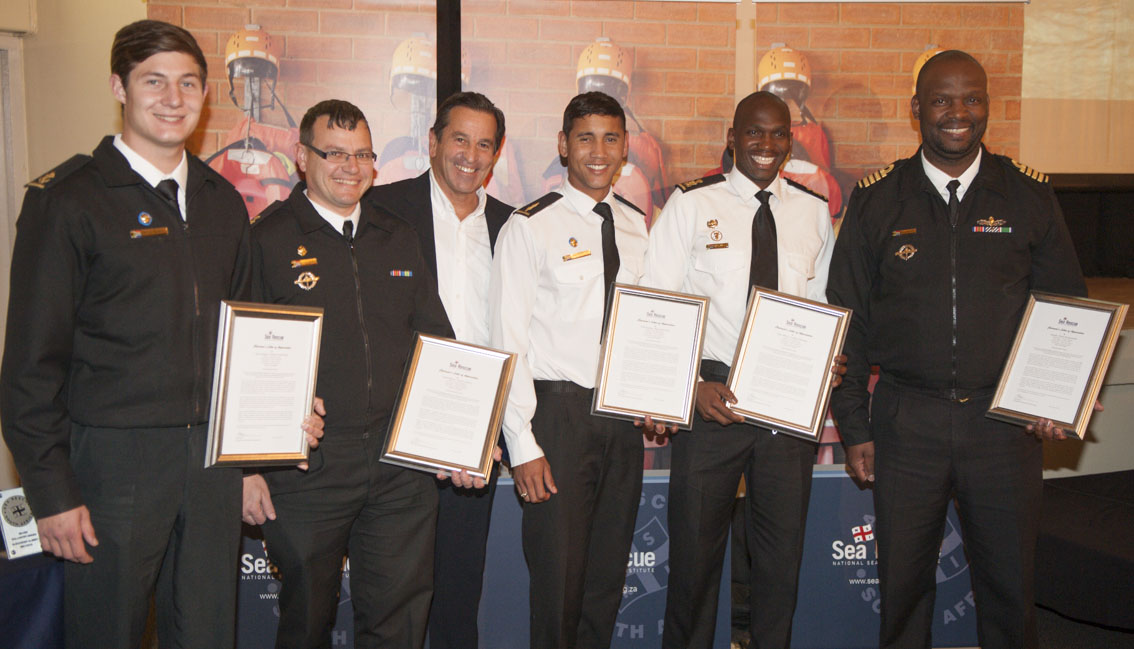 CHAIRMAN'S Letter Of Appreciation SAS Isandlwana Captain and crew for rescue of 6 crew on yacht Bille.