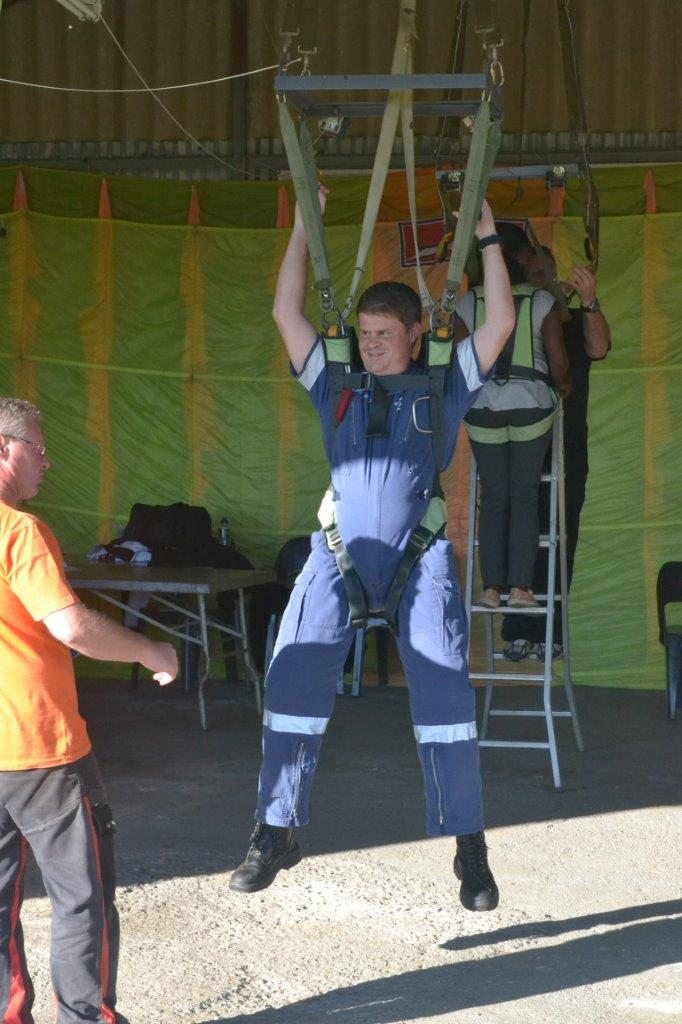 Durban Station Commander Clifford Ireland during the training.