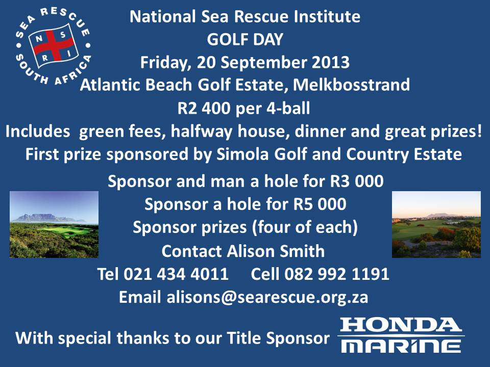 NSRI Golf Day 2013