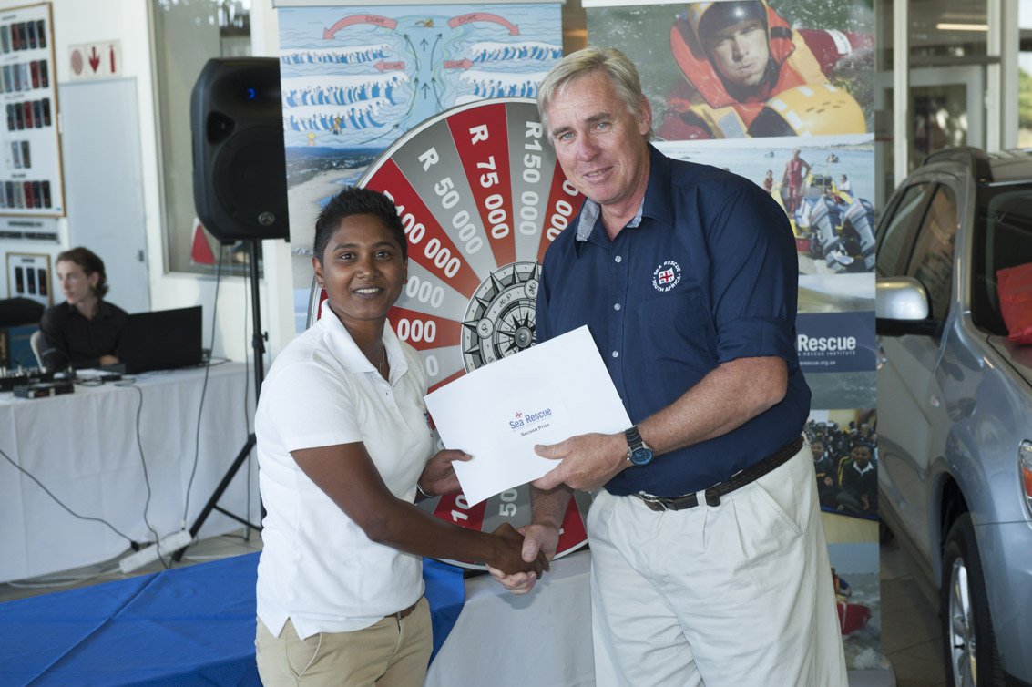 The second prize of R250 000 was won by Melissa Mathurai of Cape Diving.