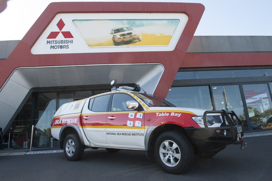 Mitsubishi Tritons are used by NSRI as Rescue vehicles.