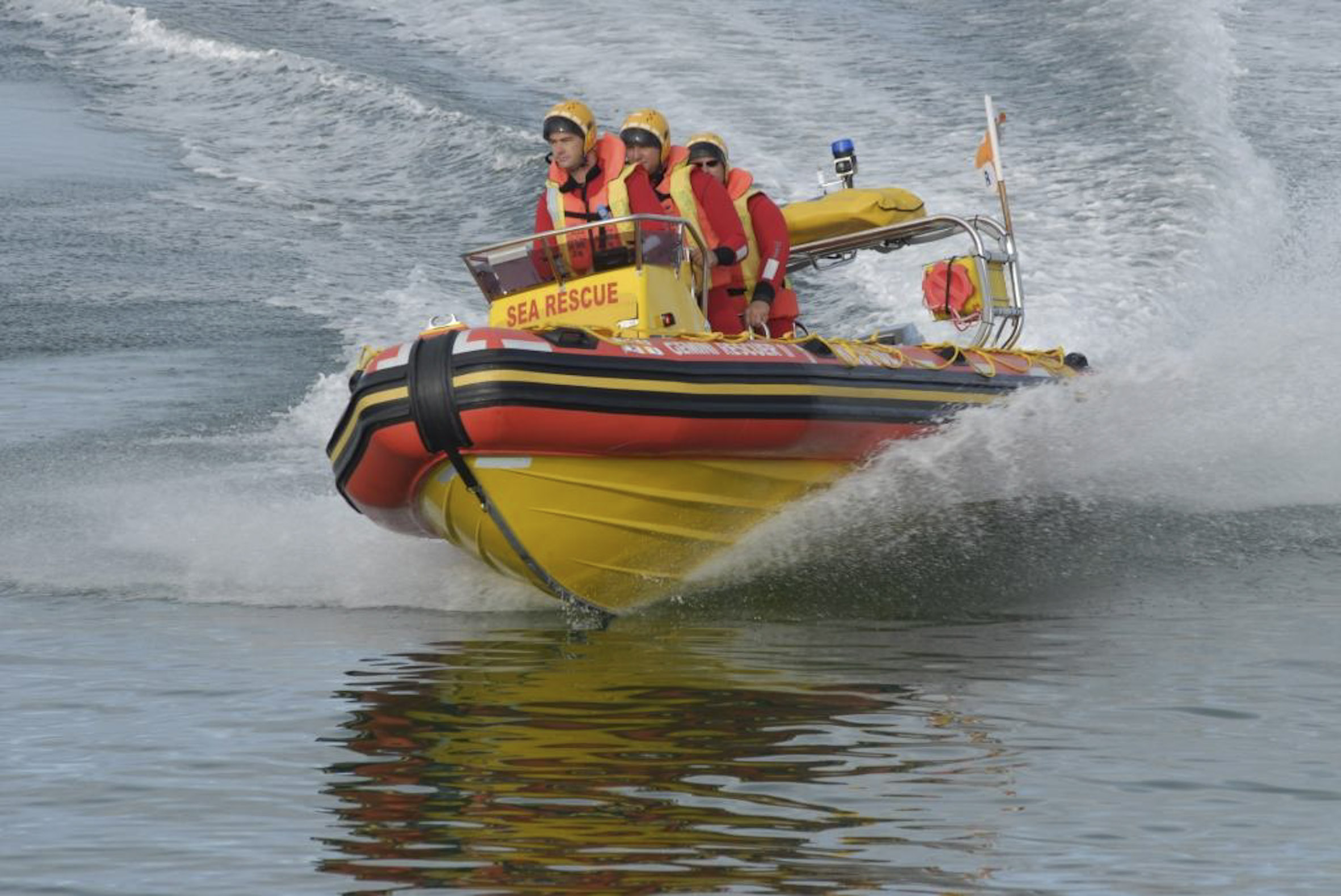 Mykonos rescue boat Gemini Rescuer II.