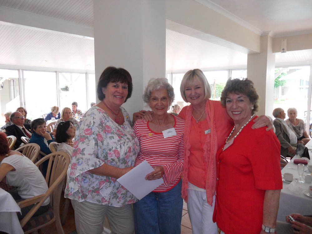 Margaret McCulloch, Nova Pershouse, Janet Burgess and Mary Scott at the function.