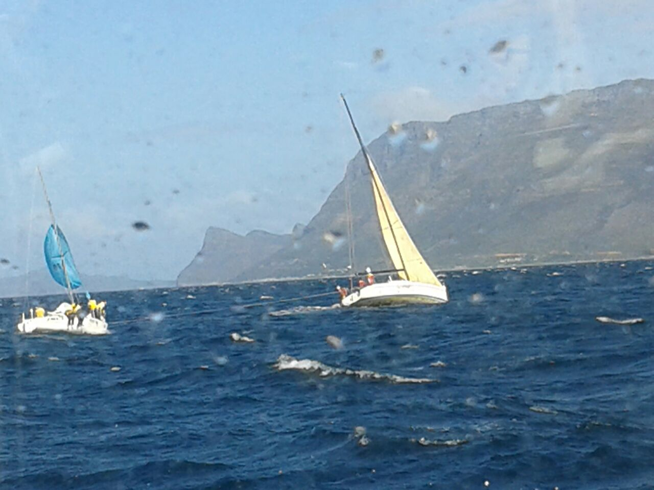SA Navy yacht AMOYO, that was in the area at the time following the yacht regatta, took the JML I under tow.