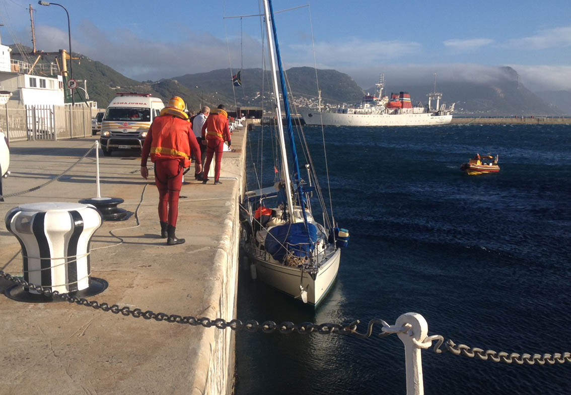 KYENA II safely in Simons Town. Picture Craig Lambinon.