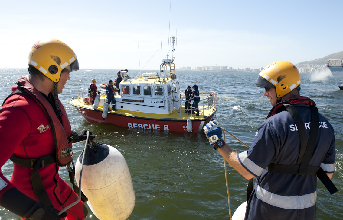 "The Hout Bay NSRI boat Nadine Gordimer"" during the exercise."